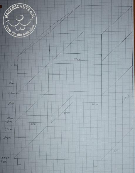 Skizze der geplanten Pflegegehege