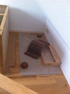 Mäuse Spielplatz im Auslauf