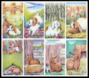 Illustration Kaninchen-Quartett